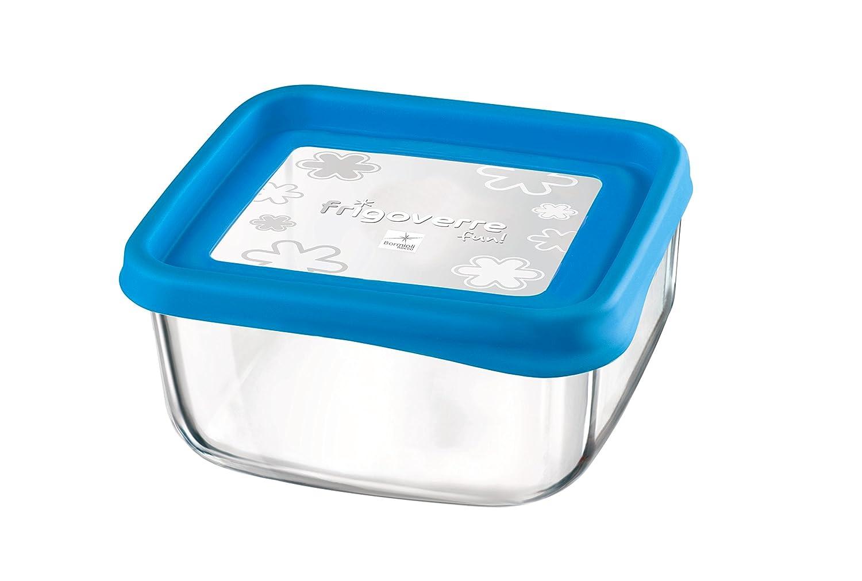 Bormioli Frigoverre - Fiambrera (15 x 15 cm, cristal), color azul ...