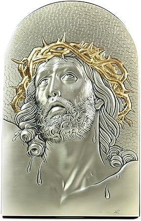 Quadro Sacro Capoletto in Argento Massiccio 925 Passione di Cristo cm 12 x 19,5
