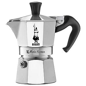 Bialetti 06857 Moka Express StoveTop Coffee Maker, 1-Cup, Silver