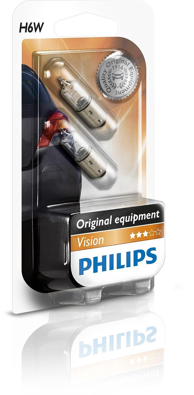 Philips 12036B2 Vision - Bombilla H6W para luces de estacionamiento lateral y luces de posició n (2 unidades)
