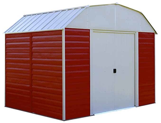 Amazon.com : Arrow RH108 Red Barn 10-Feet by 8-Feet Steel Storage Shed : Garden & Outdoor