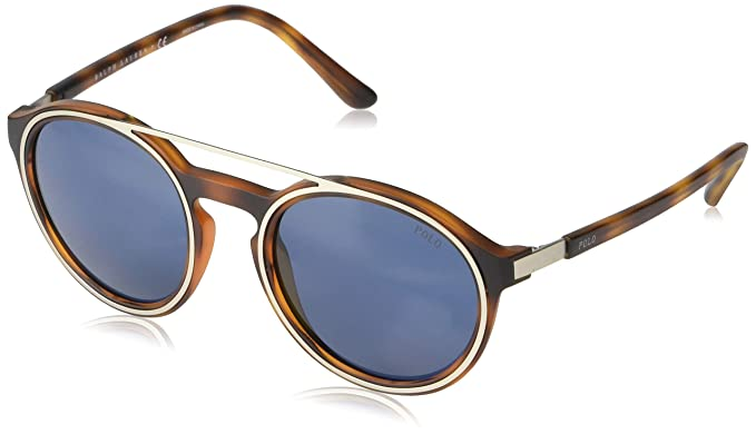 fdf6c3623c01 Amazon.com: Polo Ralph Lauren Men's 0ph4139 Round Sunglasses, Matte ...