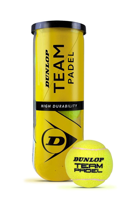 Dunlop Team Pelotas Padel B3, Adultos Unisex, Amarillo, Bote 3 ...