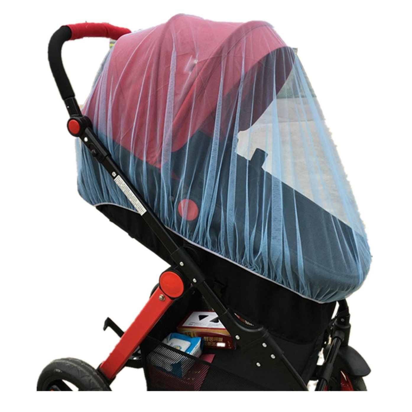 ZTY66 Baby Mosquito Net for Strollers, Carriers, Car Seats, Cradles | Windproof Protection - Travel-Friendly, Outdoor Use - Portable & Durable Baby Insect Netting (Blue)