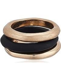 Robert Lee Morris Soho Women's Black Patina & Gold Sculptural Stackable Ring Set Size 7.5, One Size