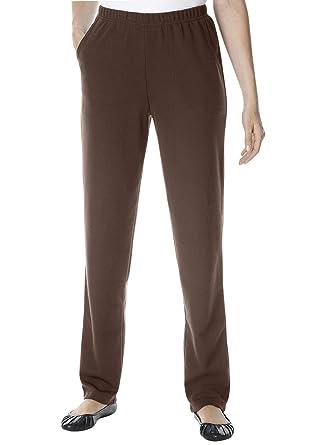 dd6aefddde0 Woman Within Plus Size Straight Leg Ponte Knit Pant at Amazon ...