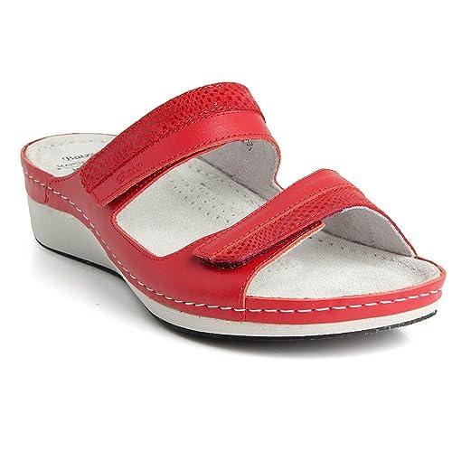 27ec8b474 Batz Hilda Leather Womens Ladies Slip-On Sandals Clogs  Amazon.co.uk ...