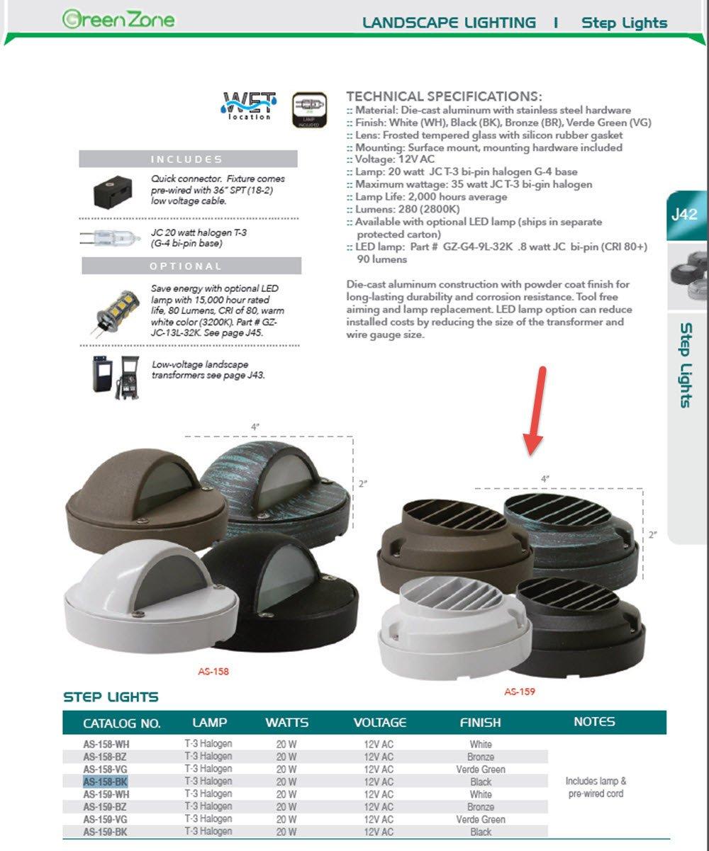 Westgate Lighting LED Well Light-Cast Aluminum Bronze Housing AS-159 Step Light- Landscape Lighting- 1 Year Warranty (1, Bronze)