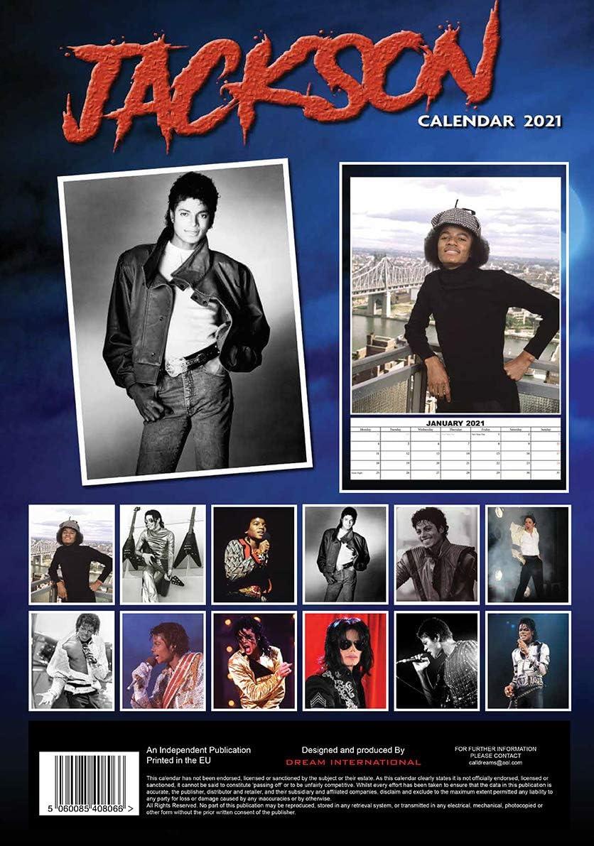 Michael Jackson Calendario 2021 A3 con Michael Jackson Calamita da frigo