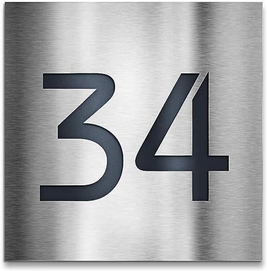 Diseño Número de Casa de cartel de acero inoxidable Placa ...