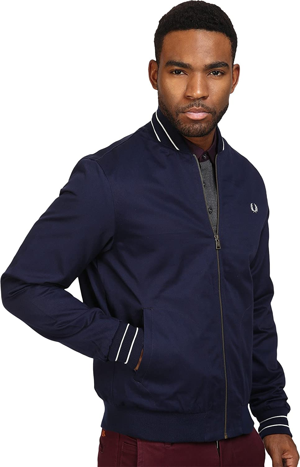 Fred Perry FP Cotton Bomber Jacket, Chaqueta para Hombre ...