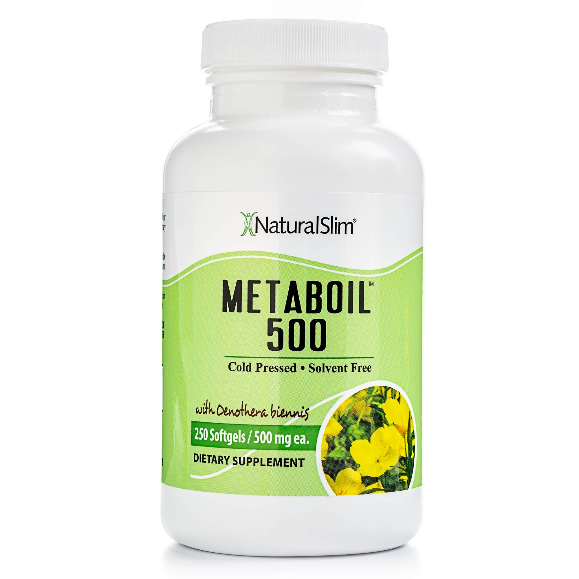 NaturalSlim Metaboil Supplement with Essential Oil Oenothera Biennis (Primrose Oil), Formulated by Metabolism and Weight Loss Specialist- Natural Anti-Inflamatory and Burner of Resistive Fat