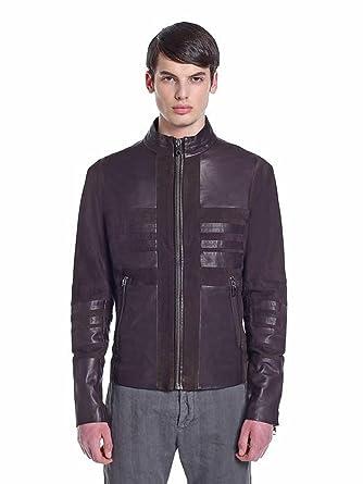 22850331 Diesel Mens Leather Jacket Black Brown Size 44 UK Size Size 34 UK Size  Diesel Lumondy Jacket Brand New (34 UK, Brown): Amazon.co.uk: Clothing