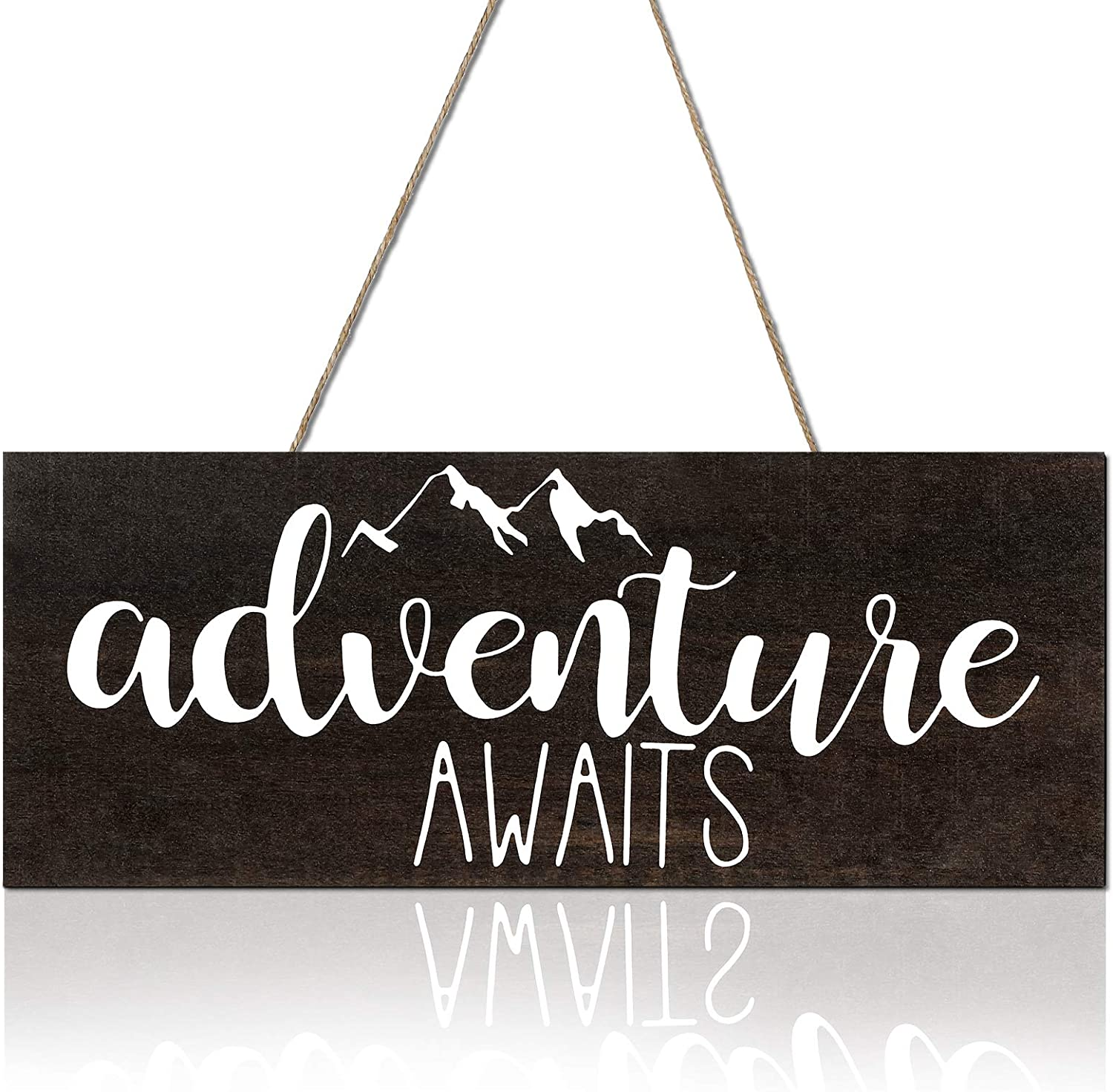 Namalu Adventure Awaits Rustic Wooden Plank Sign Rustic Wooden Sign Country Wall Decorations Farmhouse Family Wooden Signs Farmhouse Theme Room Decor