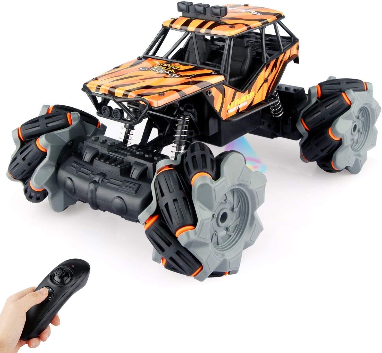 Baztoy Coche teledirigido, juguete infantil RC Offroad, coche con mando a distancia, buggy, crawler, vehículos de regalo, gadgets, juegos para 4, 5, 6, 7, 8, 9, niños, niñas, interior y exterior