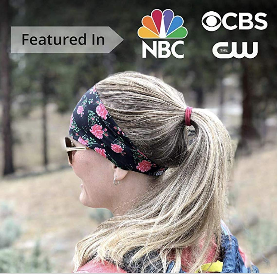 Cooling Headbands for Women | Moisture Wicking Womens Sweatband & Sports Headband | Stay Cool During Workouts Cycling Cardio Running Yoga | Headwear for Under Helmets & Hats (Sailer Jane) by Bani Bands (Image #4)