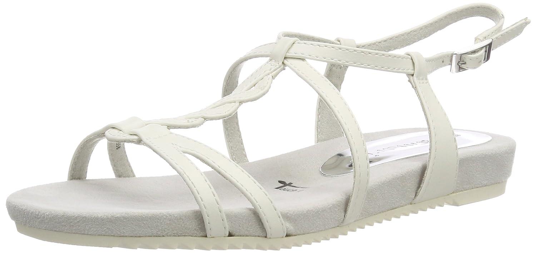28602, Sandales Bride Arrière Femme, Blanc (White Matt), 41 EUTamaris