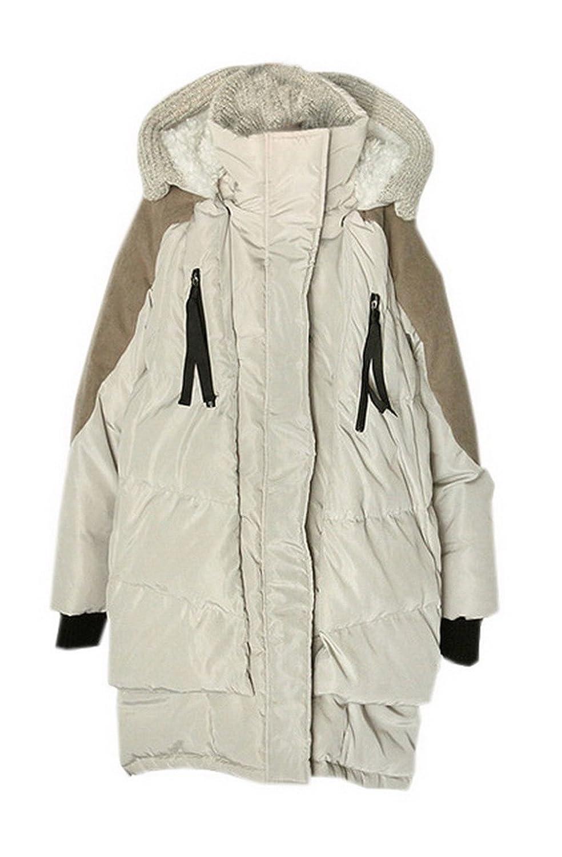 9fa2723fcf Eozy Doudoune Femme Hiver Manteau Chaud Manteau à Capuche Épais Mi-Longue  (Beige): Amazon.fr: Vêtements et accessoires