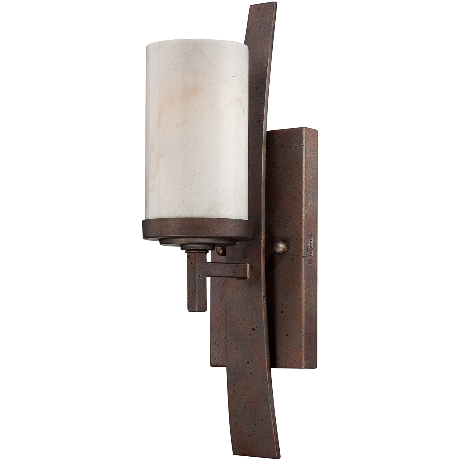 Iron Gate Small Quoizel KY8701IB Kyle Rustic Wall Sconce, 1-Light, 100 Watts, Iron Gate (16  H x 5  W)
