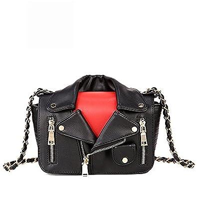 6f28310780d KEBINAI Designer Women Messenger Bags Mini Black Jacket Bag Handbags ...