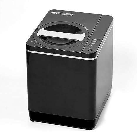 Reciclador de alimentos y contenedor de abono de cocina para uso en interior de platino,