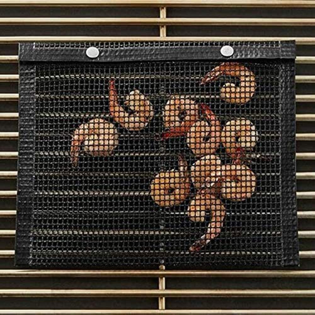 NanXi BBQ Grill Barbecue Sacchetto della Maglia 5 Pack, Sacchetto di griglia Antiaderente, Il Sacchetto di griglia Picnic Durevole per Esterno - Lavastoviglie Brown