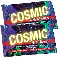 Llamas mágicas cósmicas crea llamas vibrantes y coloridas para fuegos de leña. (12)