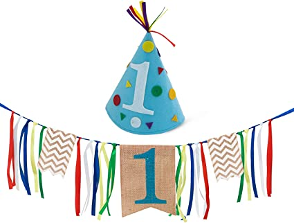Amazon.com: Decoraciones para primer cumpleaños de ...