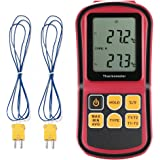 Generic GM1312 - LCD Dual Channel Digital Thermometer with Two K- type Thermocouples