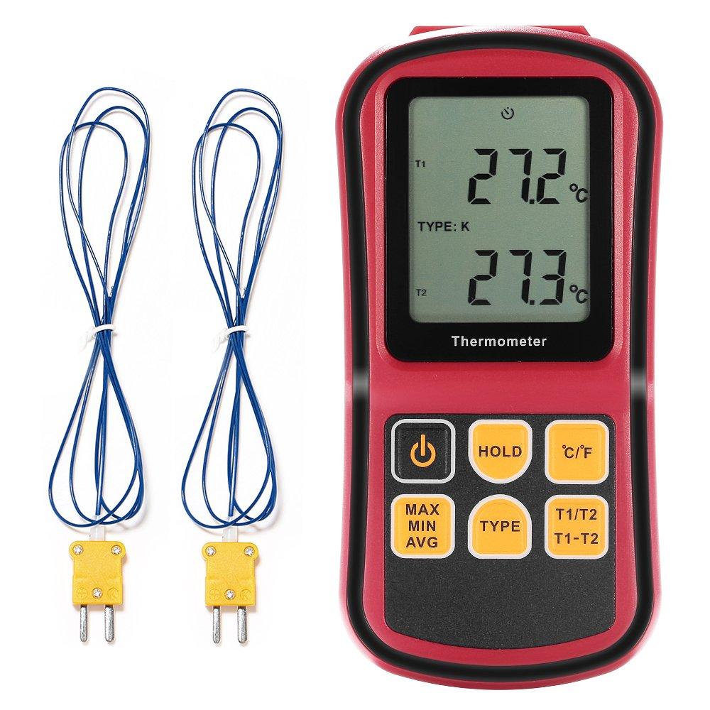 GrandBeing® tragbar Digital-Thermometer Dual Channel ...