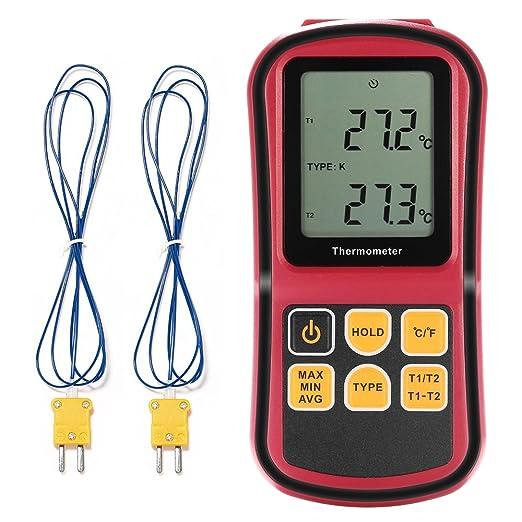 14 opinioni per Grandbeing® LCD Dual-Termometro digitale con 2 canali, per tipo K-Thermocouples