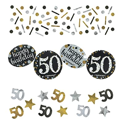 amscan Party Supplies Sparkling Celebration 50 Confetti (12 Piece), Multi Color: Toys & Games