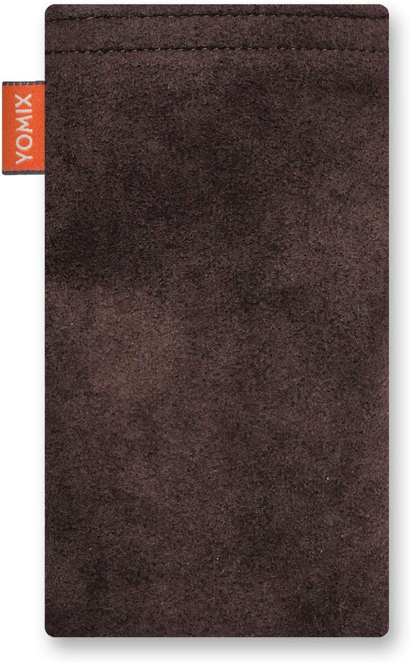 H/ülle mit Reinigungsfunktion YOMIX Hedda Handytasche Tasche f/ür Sony Xperia XA2 aus beschichteter Baumwolle mit Microfaserinnenfutter Made in Germany
