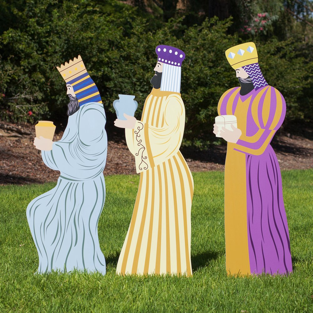 Outdoor Nativity Store Outdoor Nativity Set Add-on - Three Wisemen (Large, Color)