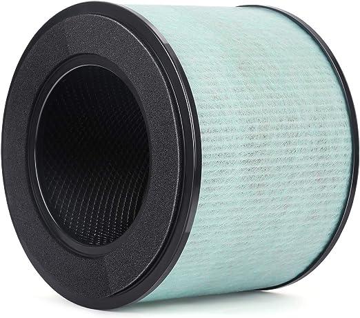 PARTU purificador de Aire Air Purifier con Filtro Combinado Hepa y Filtro de carbón Activo, luz Nocturna en 7 Colores y función de Memoria para alérgicos y Fumadores, 165x166 mm: Amazon.es: Hogar