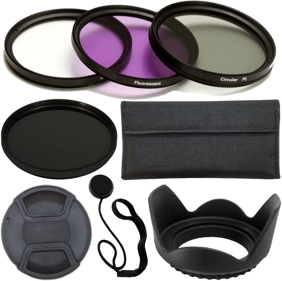 UV, CPL, FLD, ND9 500D Lens Cap T3i 1100D Includes: Filter Kit T1i Lens Hood + Carry Pouch T4i T3 600D PLR Optics 58MM Professional Lens Accessory Kit T2i 650D 700D T5i 100D Cap Keeper Leash For The Canon Digital EOS Rebel SL1