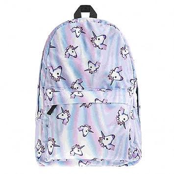745400cf58c holo unicorn 3D Printing backpack women bag mochila top quality bookbag  school bags for teenage girls sac a dos canvas backpacks bpb43583   Amazon.co.uk  ...