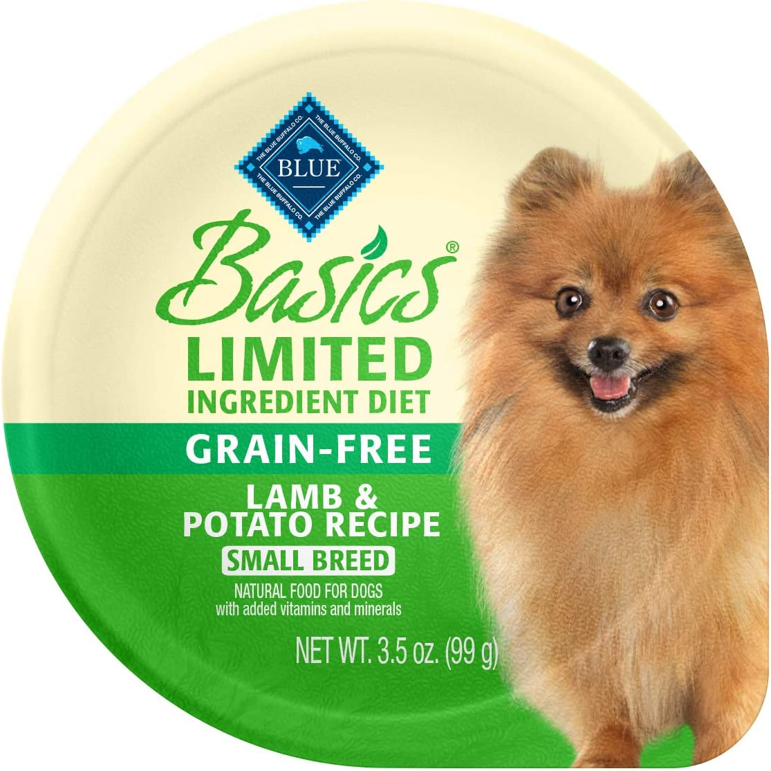 Blue Buffalo Basics Limited Ingredient Diet Adult Small Breed Grain-Free Lamb & Potato Wet Dog Food 3-oz (Pack of 12)
