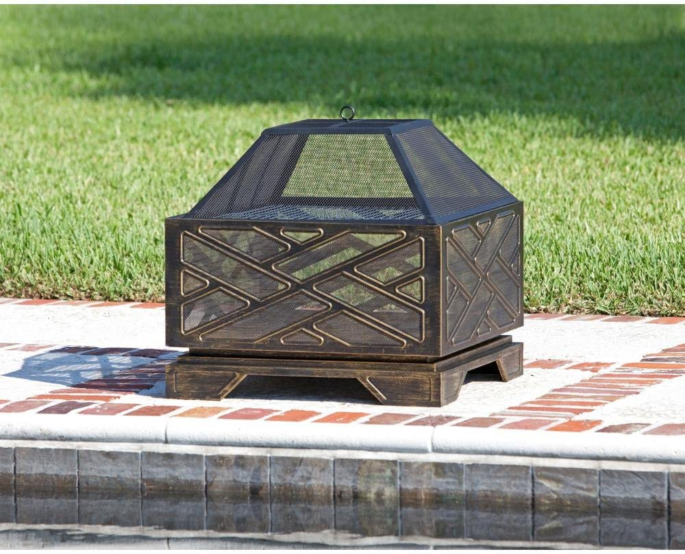 Fire Sense 62239 Catalano Square Fire Pit, Multicolor