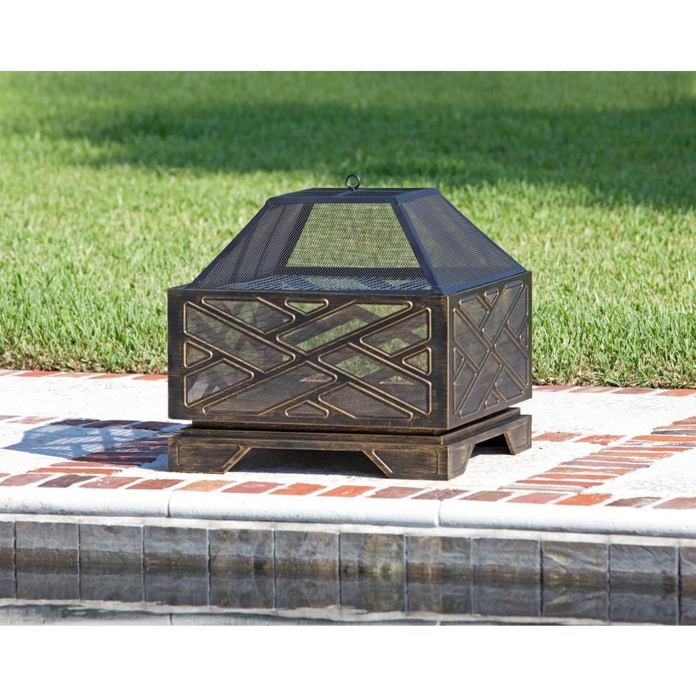 Fire Sense 62239 Catalano Square Fire Pit, Multicolor