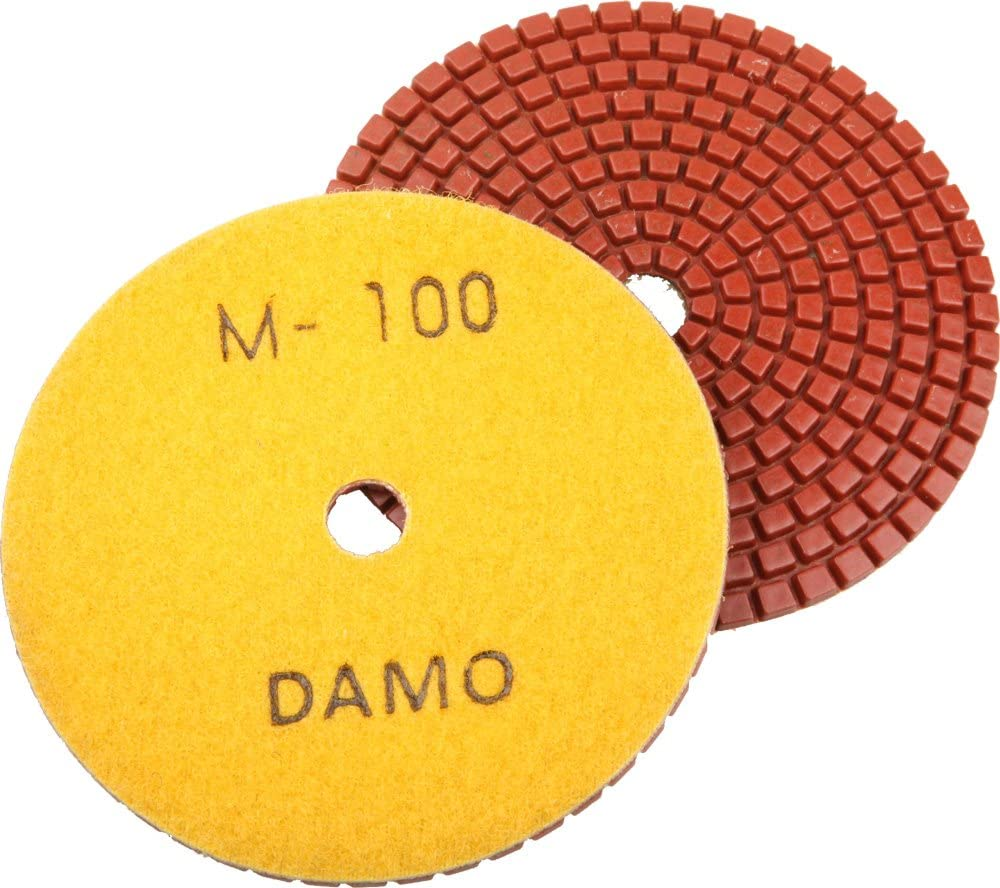 DAMO Diamond Polishing Pad 5 inch Dry Grit 1500 for Marble Granite Concrete Countertop Floor Polish