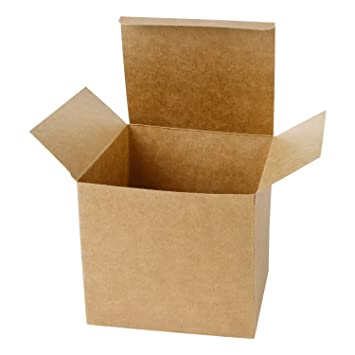 LaRibbons 20Pcs Cajas de Cartón Marrón Reciclado / Cajas de Kraft Favor Para Fiesta, Boda, Regalo, 125 x 125 x 125 mm: Amazon.es: Oficina y papelería