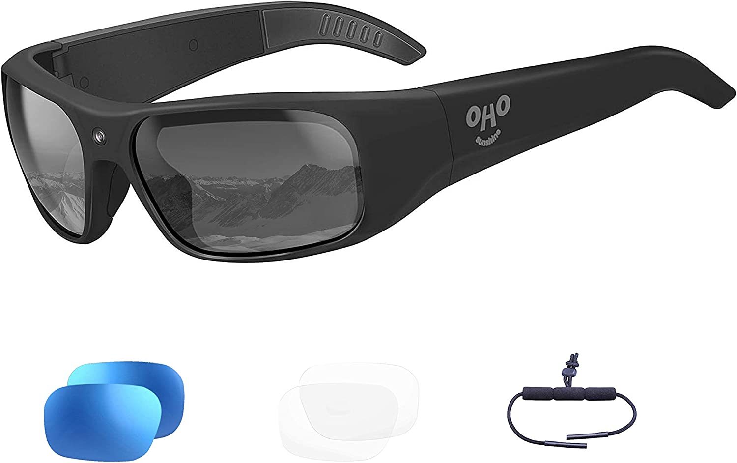 256GB WiFi Video Sunglasses Live Streaming Videos /& Photos from Glasses to Mobile Phone by App with Ultra Full HD Camera and Polarized UV400 Protection Sunglasses