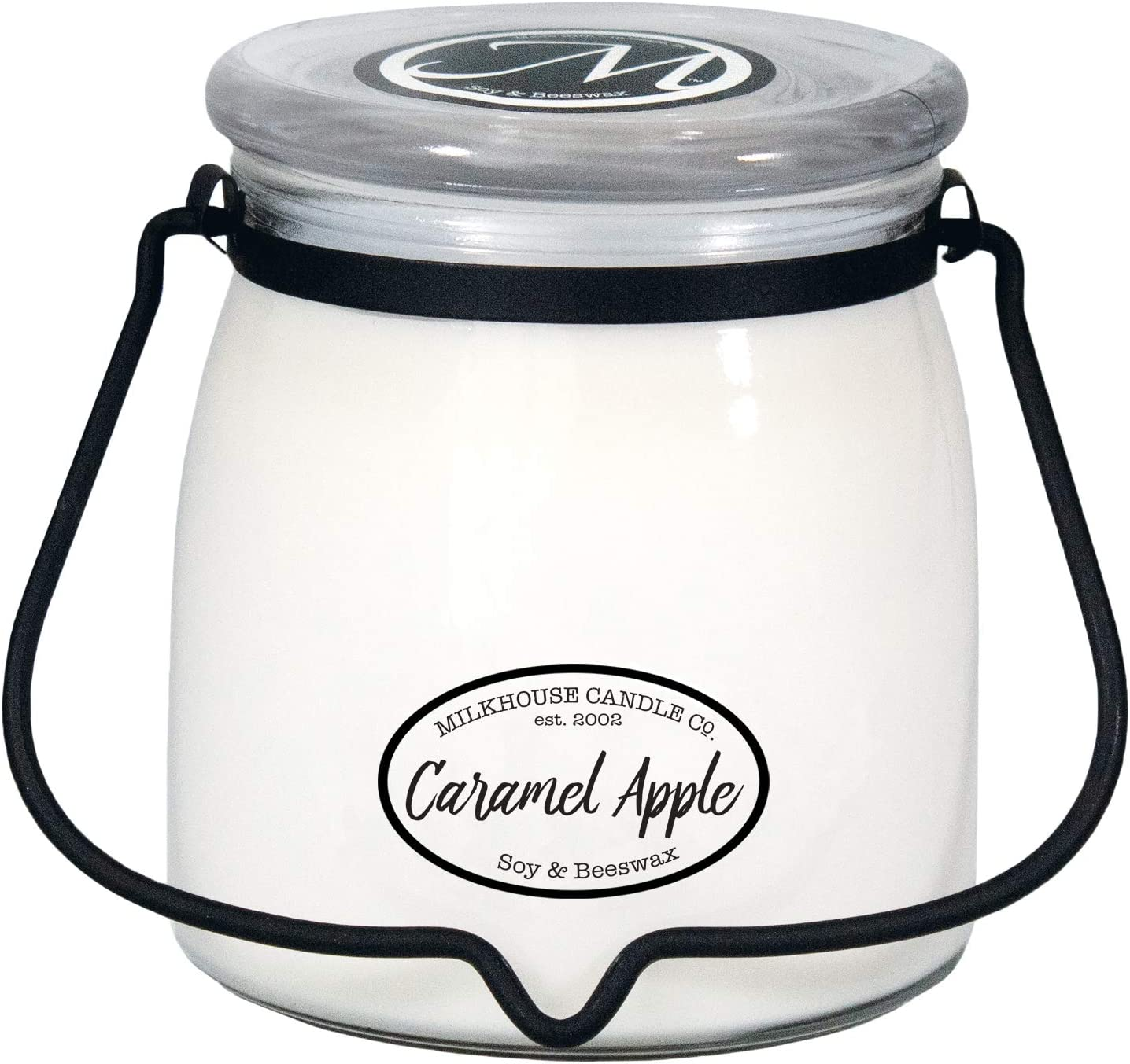 Milkhouse Candle Company, Creamery Scented Soy Candle: Butter Jar Candle, Caramel Apple, 16-Ounce
