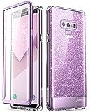 Samsung Galaxy Note 9 Case, [Built-in Screen Protector] i-Blason [Cosmo] Full-Body Glitter Bumper Protective Case for Galaxy Note 9 (2018 Release) (Purple)