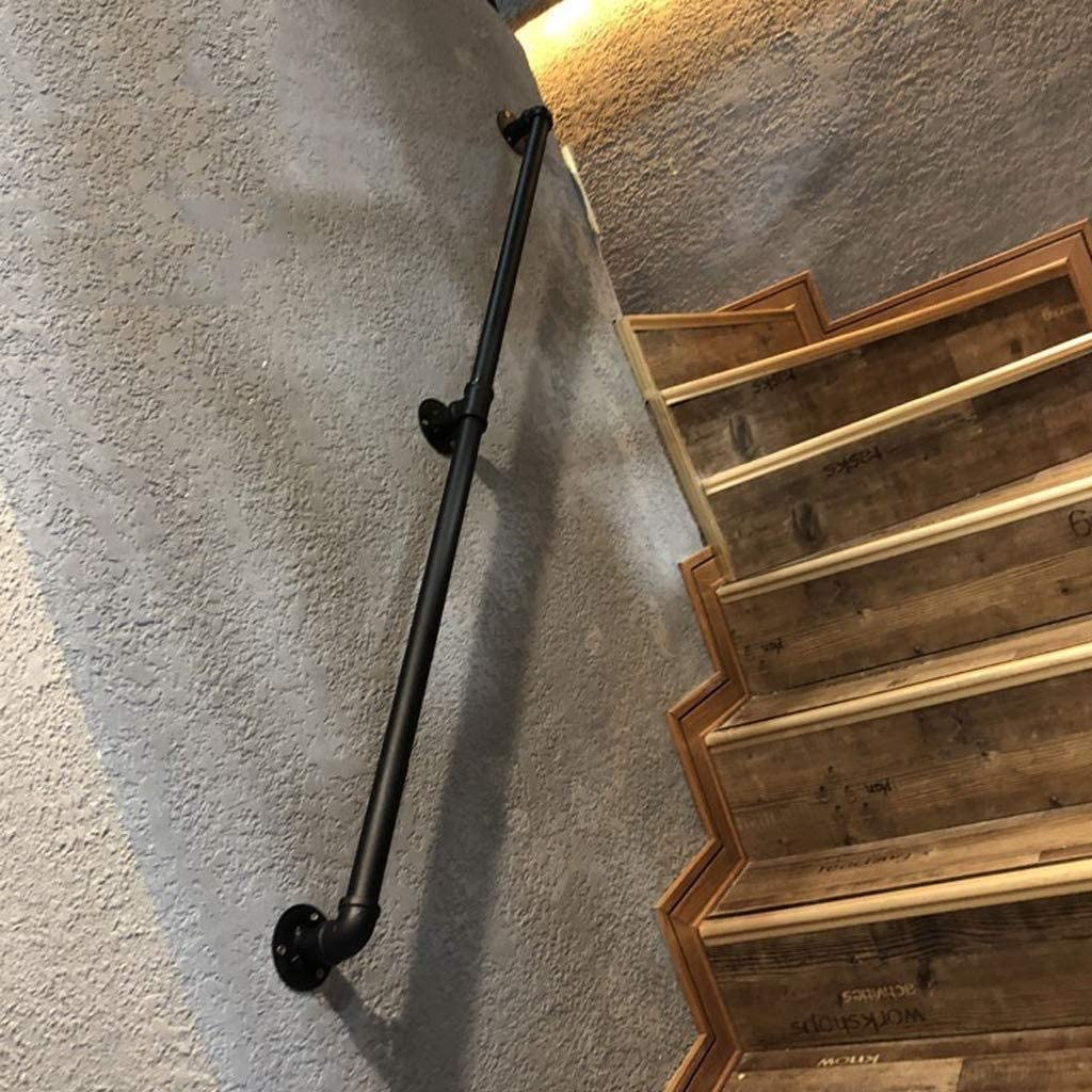 Risareyi Escalera de barandilla con cantonera multifunción Negro pasamano, for la pared del pasillo interior jardín de infantes altillo barandilla de la escalera de los niños al aire libre: Amazon.es: Hogar