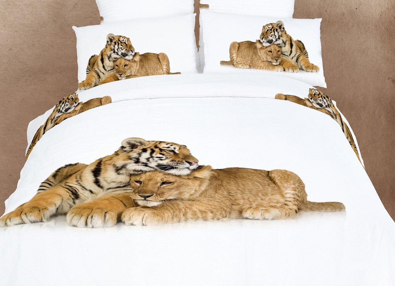 Dolce Mela DM483T Devotion Dorm Room Duvet Cover Bedding Set, Twin, Animal Print