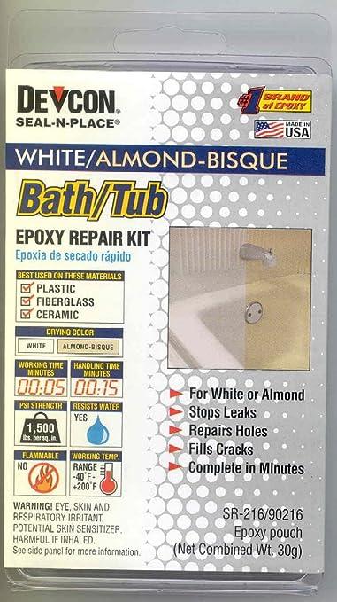 Amazon.com: RV Trailer Camper Bathroom Bath Tub Repair Kit Almond/White  002 90216: Automotive