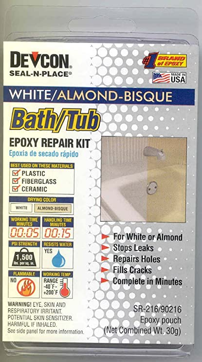 Amazon.com: RV Trailer Camper Bathroom Bath Tub Repair Kit Almond ...