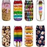 Womens Girls 3D Novelty Colorful Funny Cat Food Ankle Socks, Crazy Cute Cartoon Low Cut Socks Value Pack
